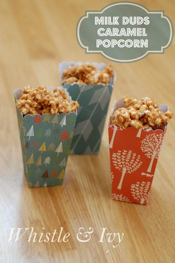 This delicious and gooey popcorn recipe is a perfect combination of salty and sweet and is covered in melted Milk Duds!