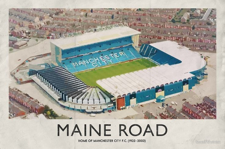 Vintage Football Grounds - Maine Road (Manchester City FC) by twelfthman