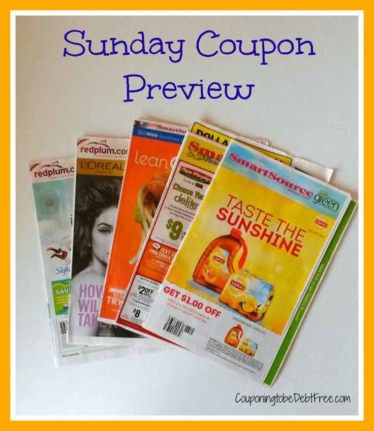 Weekly coupons preview
