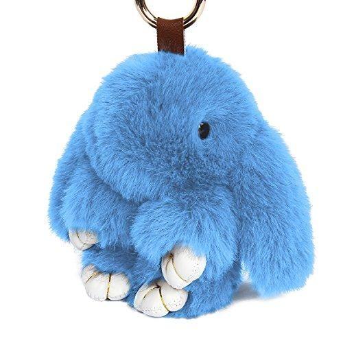 Oferta: 8.99€. Comprar Ofertas de Yodensity llavero de conejo, llavero peludo de coche, colgante para bolso, talismán, para mujer, decoración, azul claro barato. ¡Mira las ofertas!