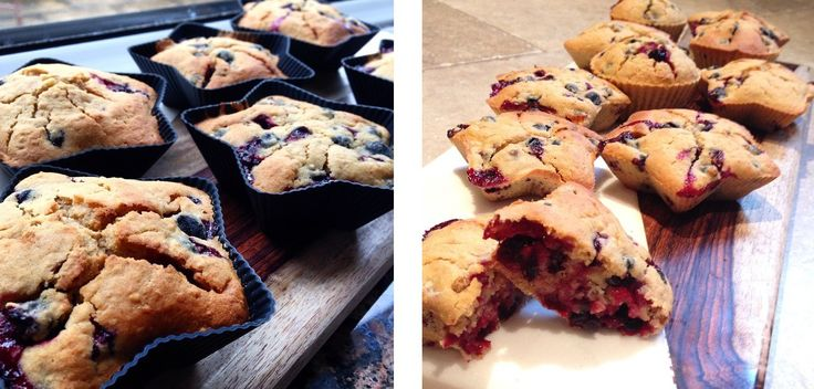 Oatmeal and blackcurrant muffins; sharp and sweet, a combination that works perfectly here. Dairy-free, gluten-free, nut-free, soy-free. A great recipe to use up any spare berries you have lying around, and a great addition to the lunch box.
