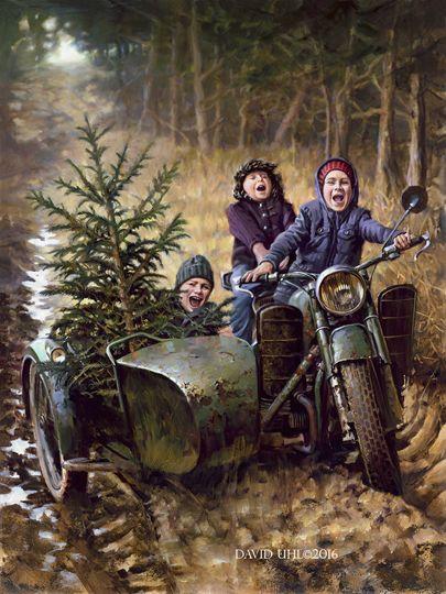 """Joy Ride"" oil on canvas by David Uhl"