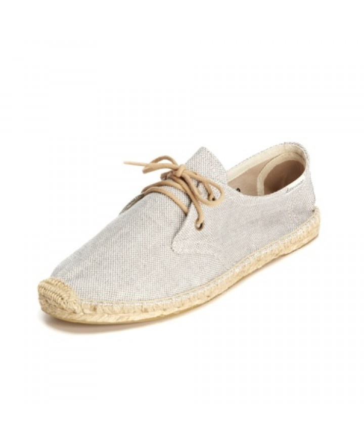 Linen Derby - Grey Espadrilles for Women from Soludos - Soludos Espadrilles