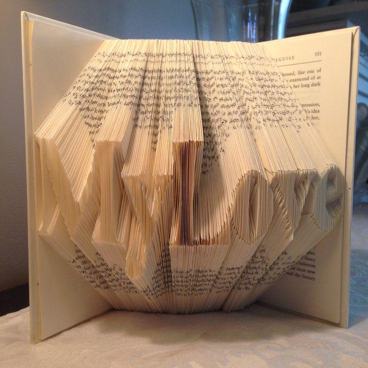 My Love folded book art