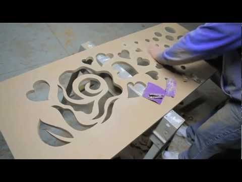 This is a how-to video showing how to create a custom radiator cover.
