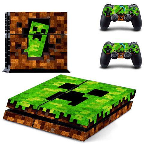 Minecraft decal for ps4 console skin sticker - Decal Design #playstation #controllers #gaming #console