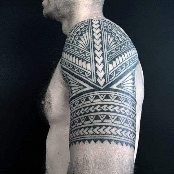 Polynesian Tribal Arm Half Sleeve Tattoo Designs On Guys Polynesiantattoos Arm Tattoos For Guys Tribal Arm Tattoos For Men Tribal Arm Tattoos