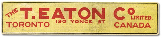 The T. Eaton Co Limited Banner