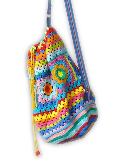 Crochet rucksack backpack