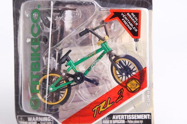 2015 New Professional Flick Trix Finger Bmx Bicicleta Real Brakes Alloy Fun Toy For Boys With Gadget Green And Golden Color