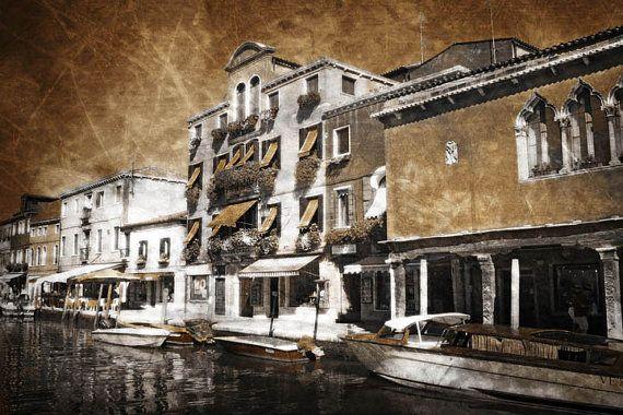 Murano, Italy, Fine Art Print, Distressed, Sepia