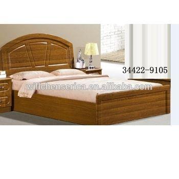 bedroom new design wooden mdf golden double bed buy on indian wood double bed designs