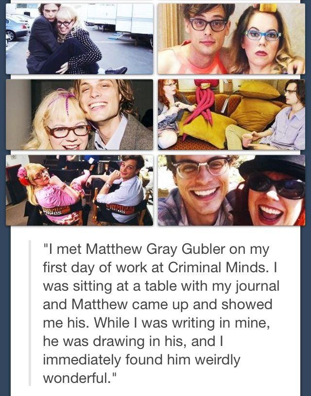 I love criminal minds. And Matthew Gray Gubler.!!! :)