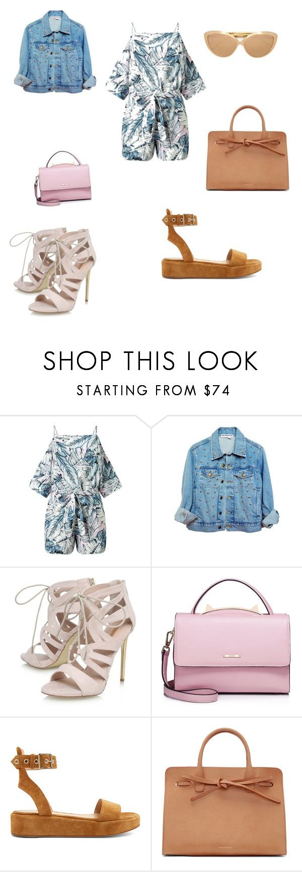 """""""Untitled #1783"""" by mrstreschic ❤ liked on Polyvore featuring Miss Selfridge, High Heels Suicide, Carvela, WithChic, Gianvito Rossi, Mansur Gavriel and Linda Farrow"""
