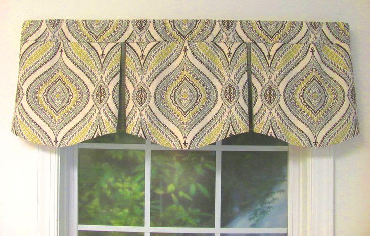Curved Box Pleat Valance - Choose from 50 + fabrics - Custom Select
