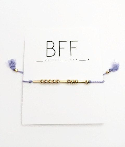 Morse Code Bracelet BFF Best Friend Jewelry by VerseShop on Etsy.......You could EASILY make this!