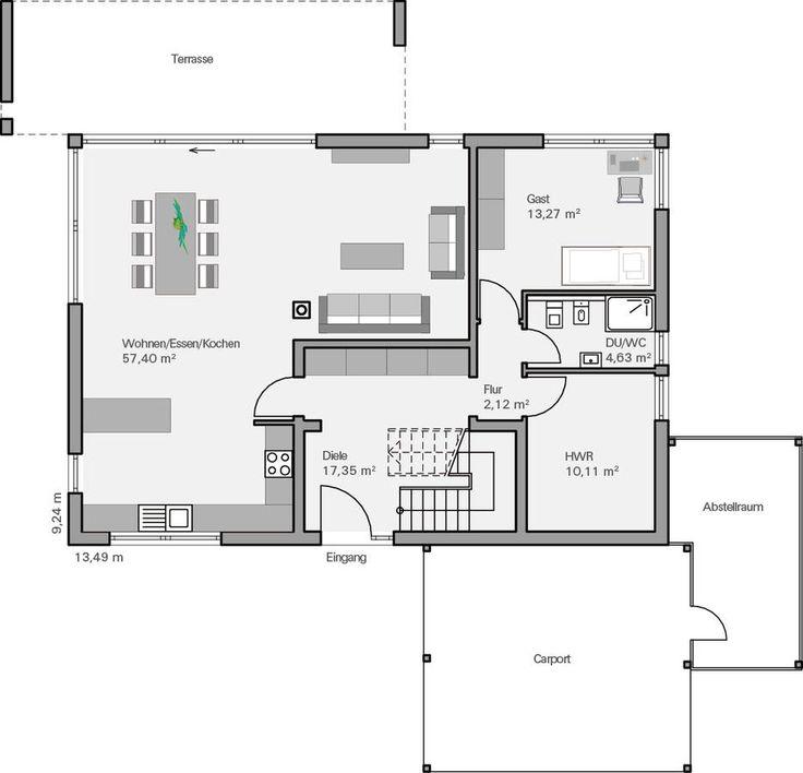 Grundriss einfamilienhaus architekt  174 besten Wohntraum // Architektur Bilder auf Pinterest