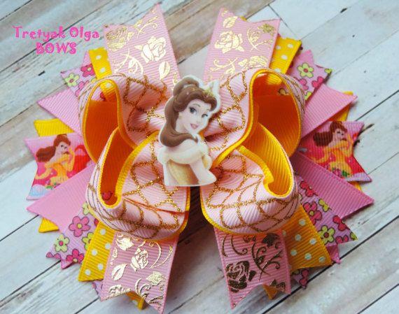 Princesa de arco de pelo de Belle Belle arco Disney fiesta de