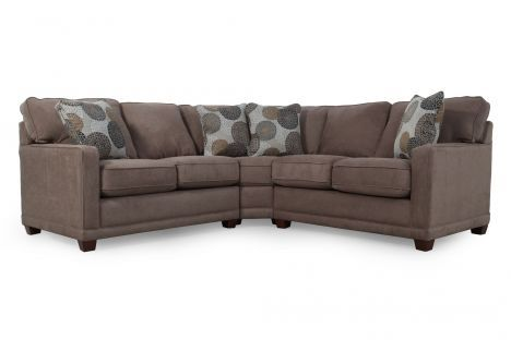 Lzb 593 sectional la z boy kennedy cashmere sectional for Mathis brothers living room furniture sectional sofas