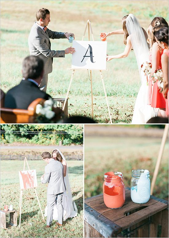 Fantastic wedding ceremony idea! Unity painting!