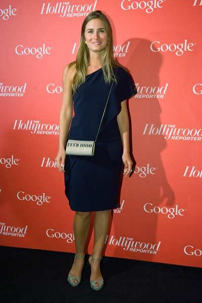 Model Lauren Bush arrives for a party thrown by Google and the Hollywood Reporter, on the eve of the annual White House Correspondents' Association Dinner, at the W Hotel in Washington, April 27, 2012.