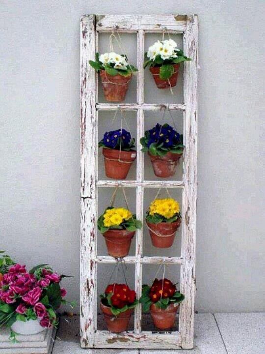 A cute idea with an old window