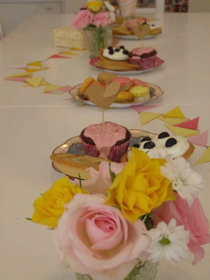 JGA im pottery art café. Dekorations Idee für JGA-Tisch.