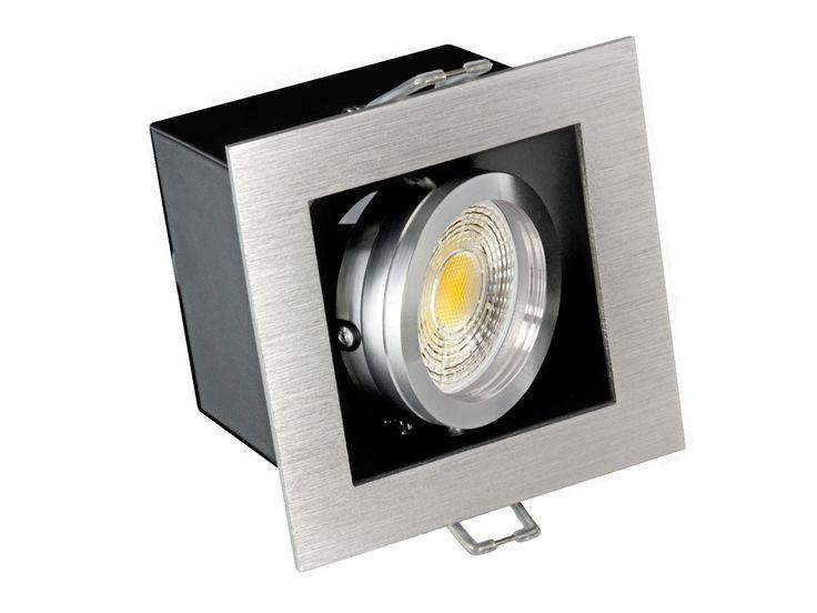 K1 LED-Einbaustrahler Leuchte Alu kardanisch schwenkbar, 3,5W SMD LED, 230V GU10-Sockel, warm weiss, 38° Abstrahlwinkel – Bild 2