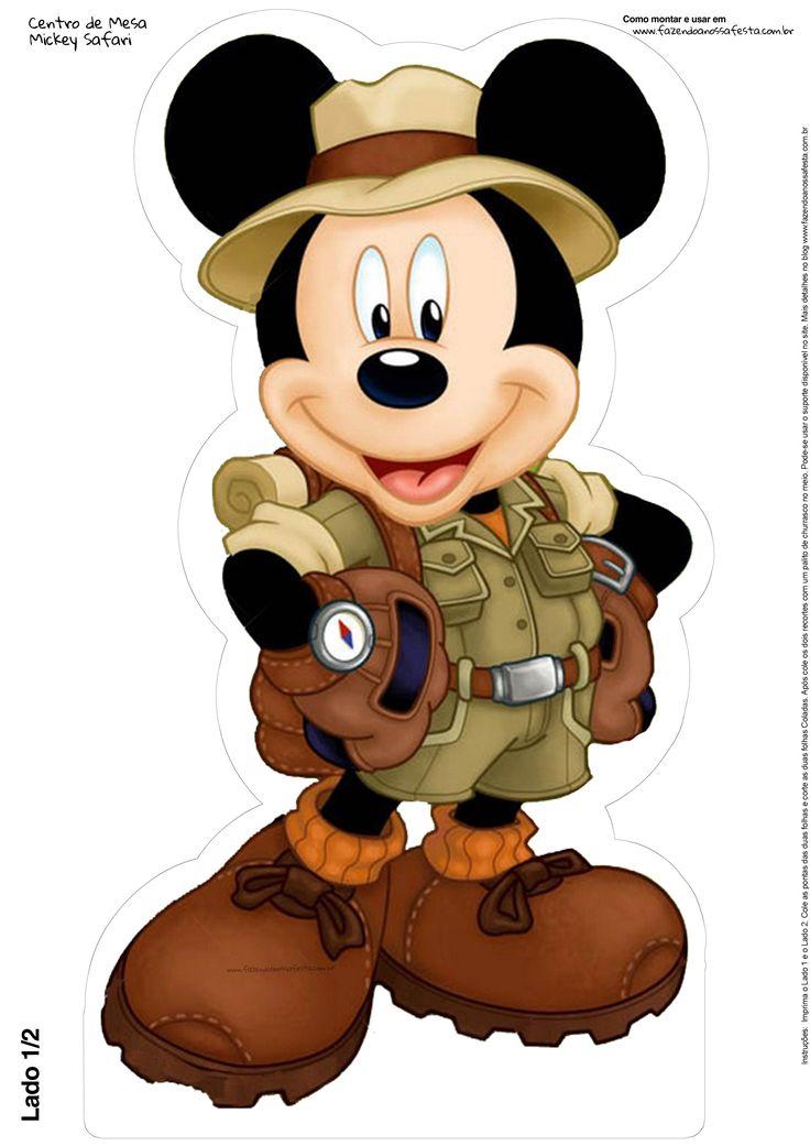 Centro de Mesa Mickey Safari Grátis                                                                                                                                                                                 Mais