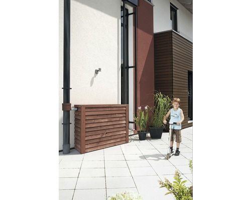 Superb Garantia Woody Wandtank in Holzoptik verschiedene Dekore Wassertank Regentonne in Garten u Terrasse Bew ssern Wasserspeicher u Regentonnen