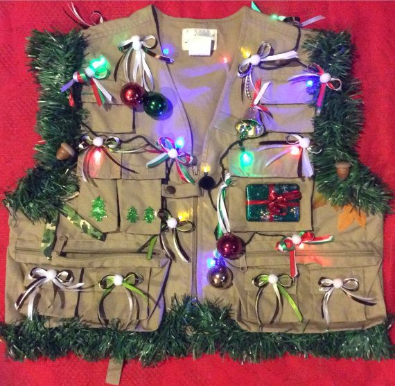 14 best ugly christmas sweater images on pinterest la la for Fishing christmas sweater