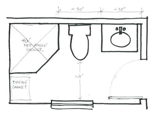 5x7 bathroom floor plans 7 x 5 bathroom designs superb ...