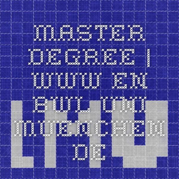 Master Degree | www.en.bwl.uni-muenchen.de