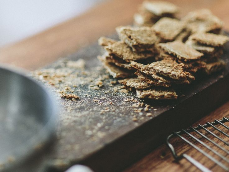 Oat Crackers -Slightly chewy, lightly spiced crackers.Perfect for a quick snack or for share plates –and a great way to use leftover porridge to minimize food  waste!It turns out that having crackers makes everything easy and  delicious.