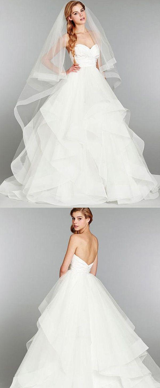 Charming Taffeta & Tulle A-line Sweetheart Neck Empire Waistline Wedding Dress