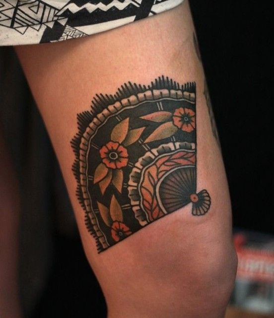 Fan Tattoo, artist unknown