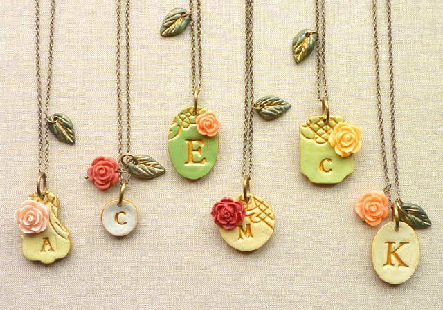 clay necklaces