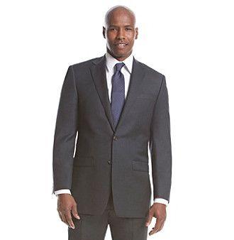 Lauren Ralph Lauren Men's Big & Tall Charcoal Solid Suit Separates Jacket