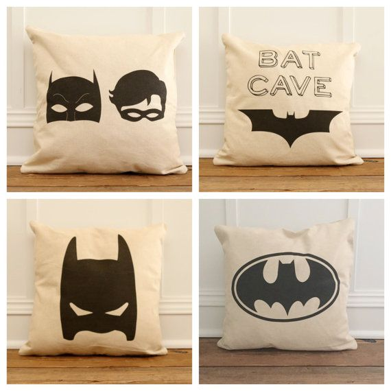 Vintage Superhero Pillow Cover by SoVintageChic on Etsy