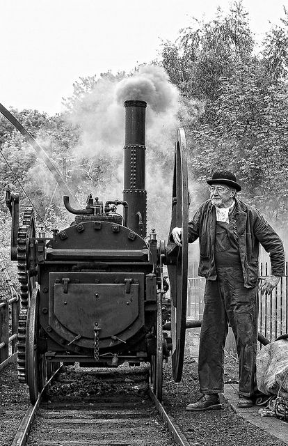 The Trevithick Locomotive. This is named after Richard Trevithick from Cornwall. This is a working replica of the Coalbrookdale locomotive. Which is in the Blists Hill Victorian Town
