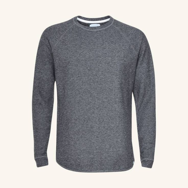 Norse Projects - Aske Fine Structure LS - charcoal melange