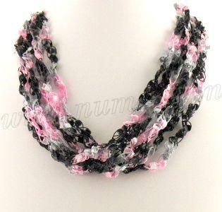 Free Crochet Patterns Using Ribbon Yarn : 25+ best ideas about Ribbon Necklace on Pinterest Ribbon ...
