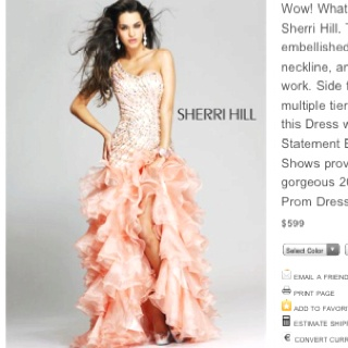 If I wasn't so short, I would love this dress.