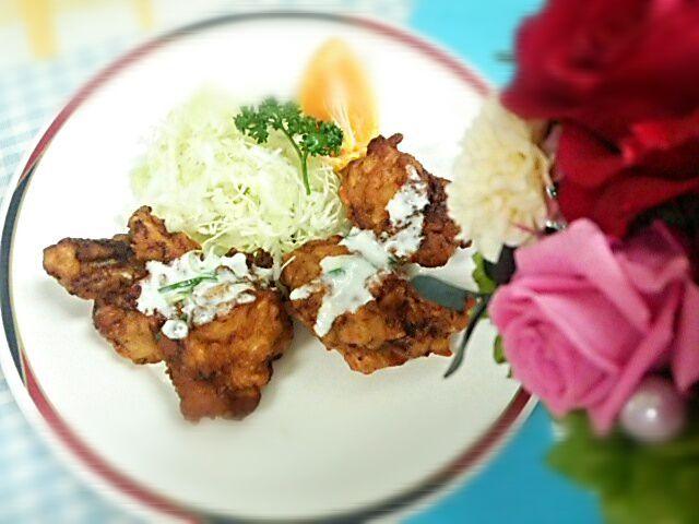 腸内環境を整えるヨーグルトを料理に活用しました(^-^)v - 30件のもぐもぐ - 鶏のから揚げ ねぎ入りさっぱりタルタル風 by Yoshitsugu  Tsuchiya