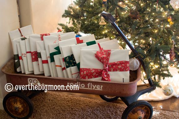 Wrap 25 books for Christmas. Stamp 1-25 on them and open one each night. Fun tradition, plus a list of 25 great  Childrens Christmas books!