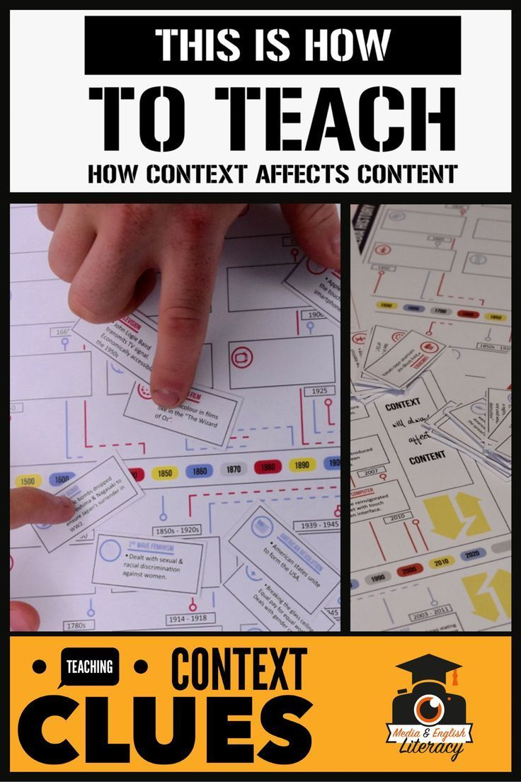 This is how you can help your students understand how CONTEXT affects CONTENT. Your students will thank you for giving them clear, scaffolded and easy to comprehend definitions and breakdowns of the components of CONTEXT.  #highschoolenglish #medialiteracy #mediaactivities #context