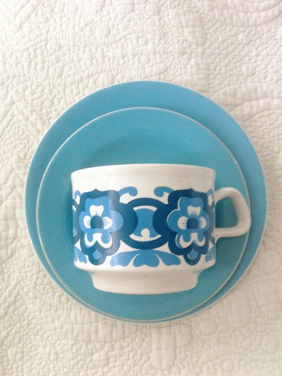 Staffordshire England Pottery Midcentury by FiveLittleDiamonds, £4.00
