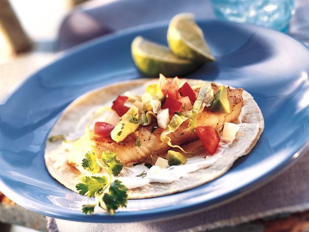 fish tacos grill or bake fish while preparing toppings