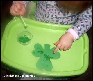 Creative and Curious Kids!: Simple Shamrock Activity