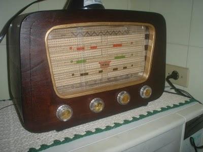 O rádio dos anos 50 e 60.